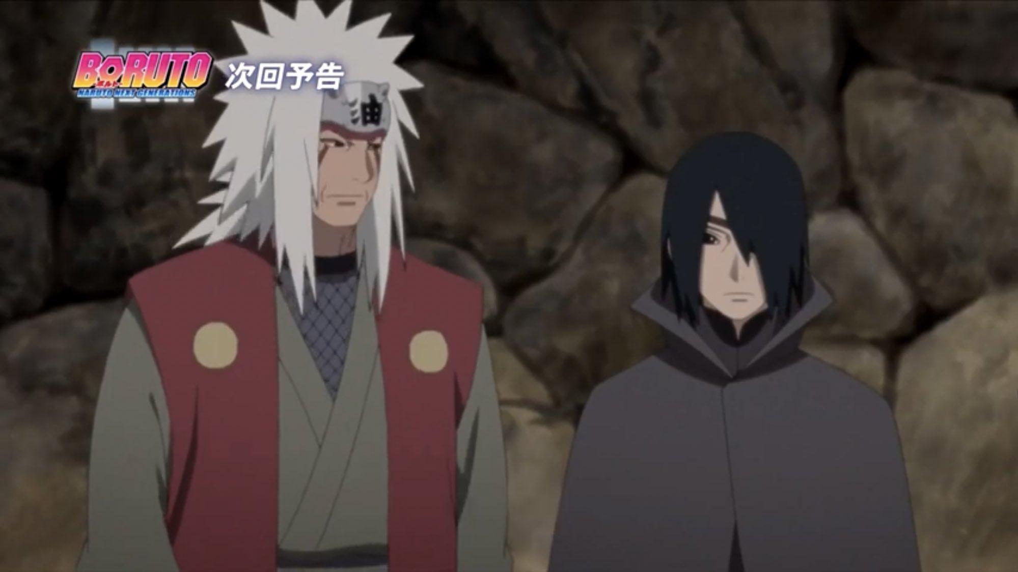 Boruto S Time Travel Arc Sees Jiraiya Fight Alongside Sasuke