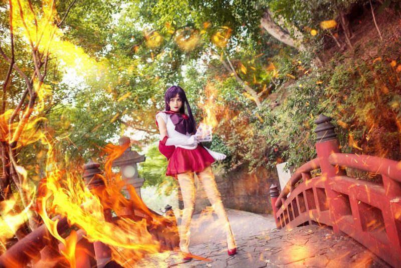 Lai Pin-Yu's sailor mar's cosplay