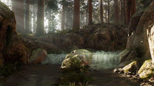 """Jackob Kudsk Steensen's """"virtual forest"""" art project."""