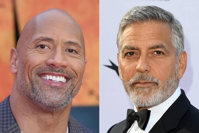 Dwayne Johnson and George Clooney My Hero Academia