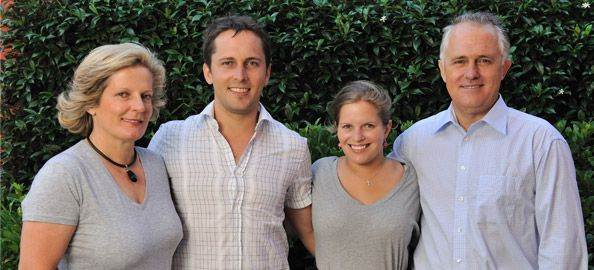Malcolm Turnbull with his Wife(Lucy), Son(Alex) and Daughter(Daisy)