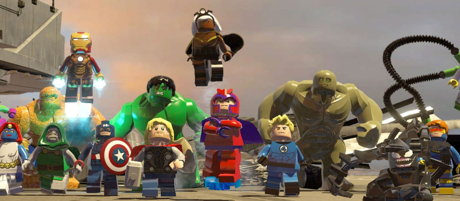 Lego version of the Marvel characters