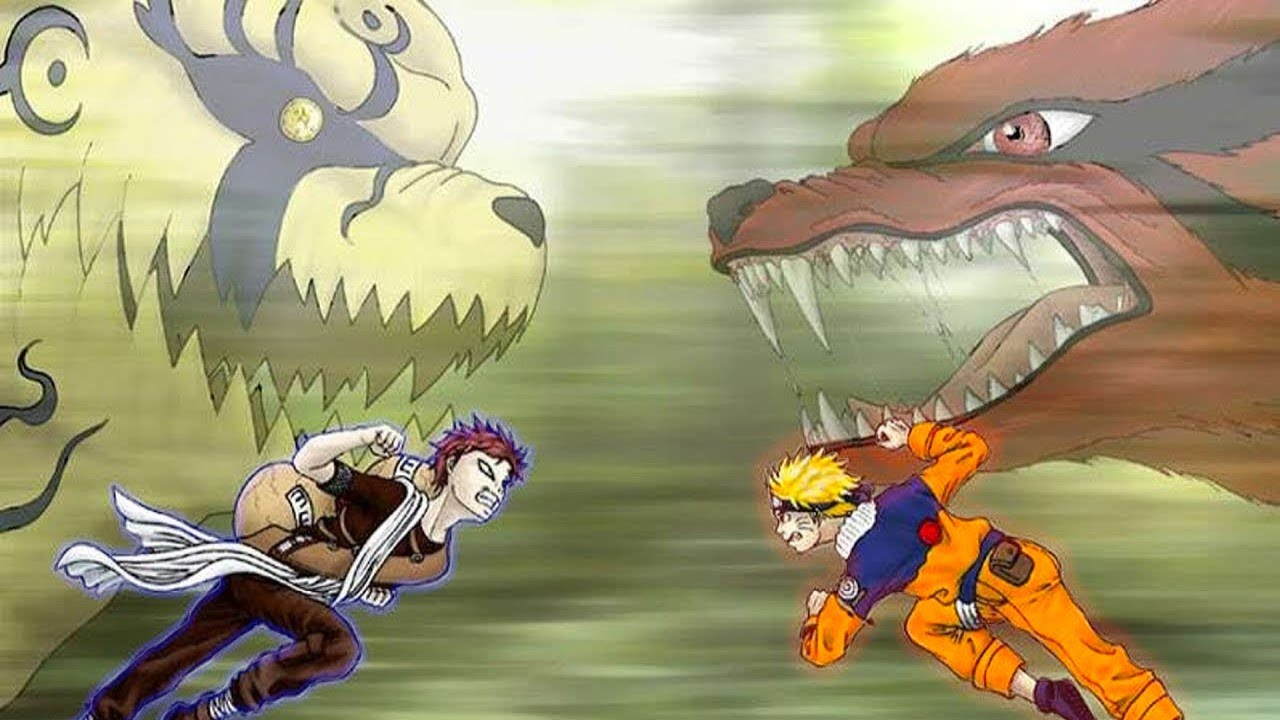 Naruto Fights Gaara
