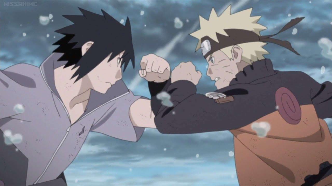 Naruto Fights Sasuke