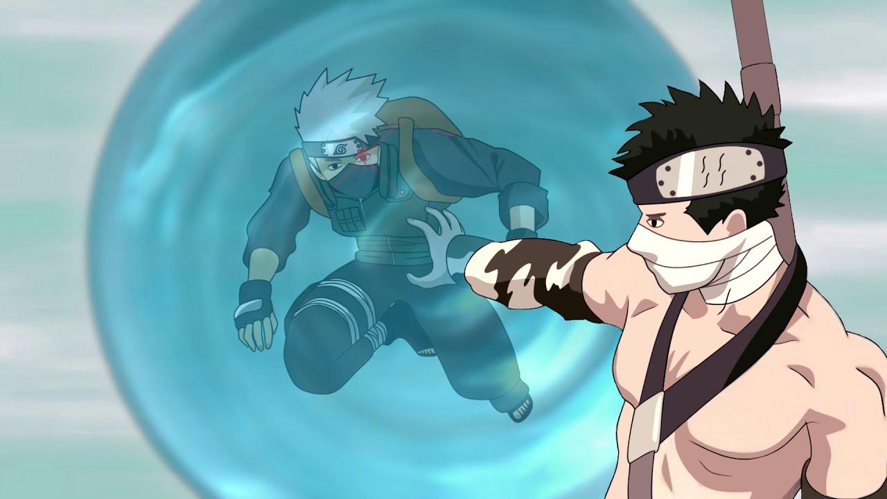 Naruto and Sasuke free Kakashi from Zabuza's Water Prison