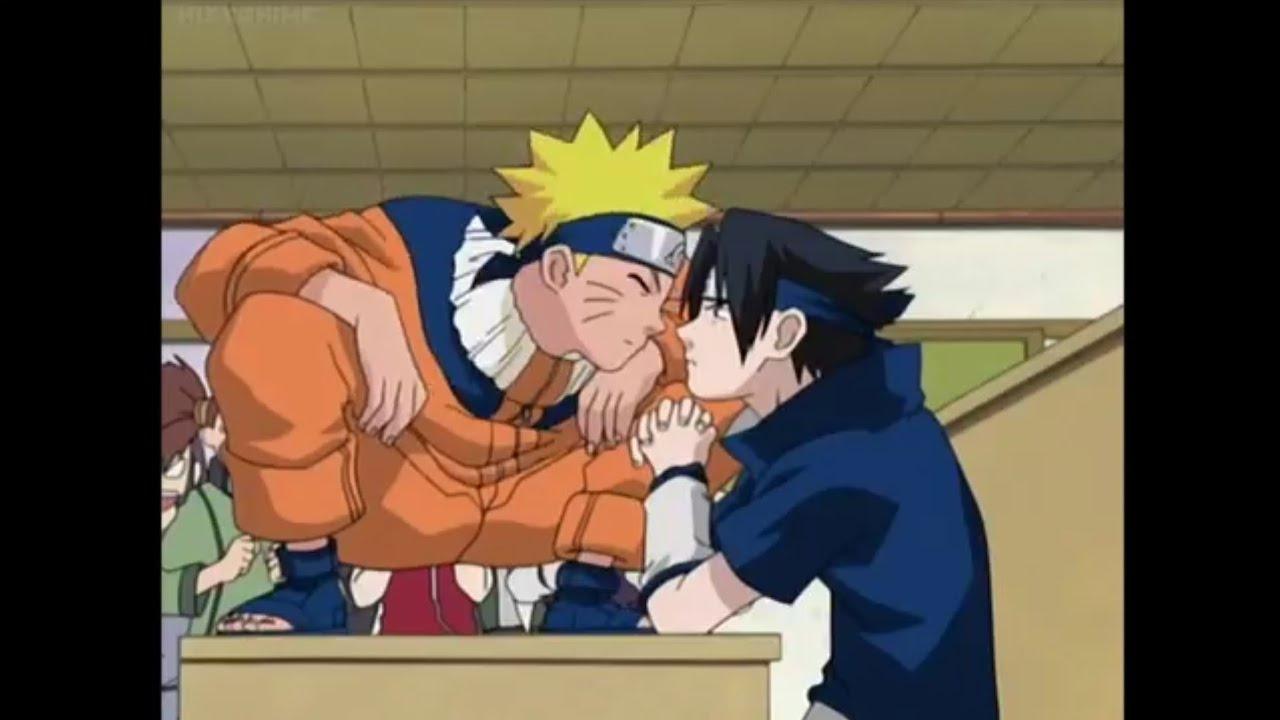 Naruto kisses Sasuke