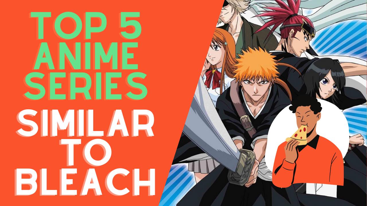 Top 5 anime series similar to Bleach