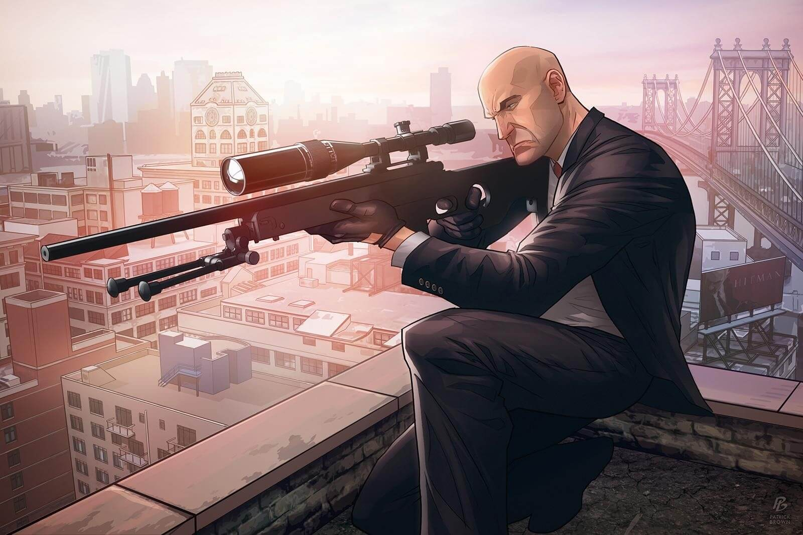 Hitman Character in Stealth Games