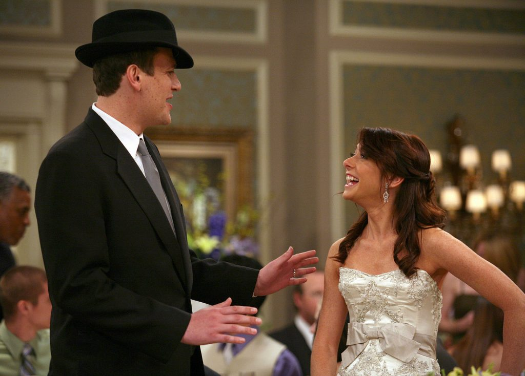 Marshall and Lily at their wedding