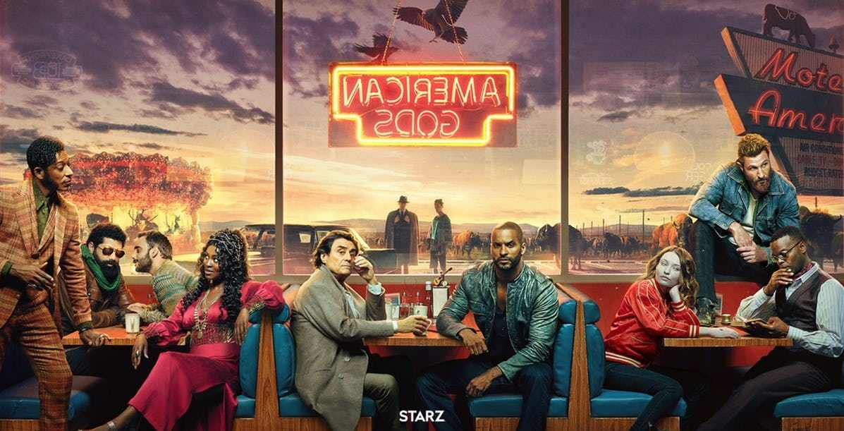 American Gods- Hottest American drama on Starz now