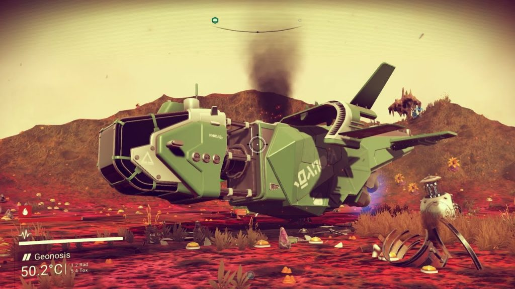 Scrap any crashed ships you find in No Man's Sky.