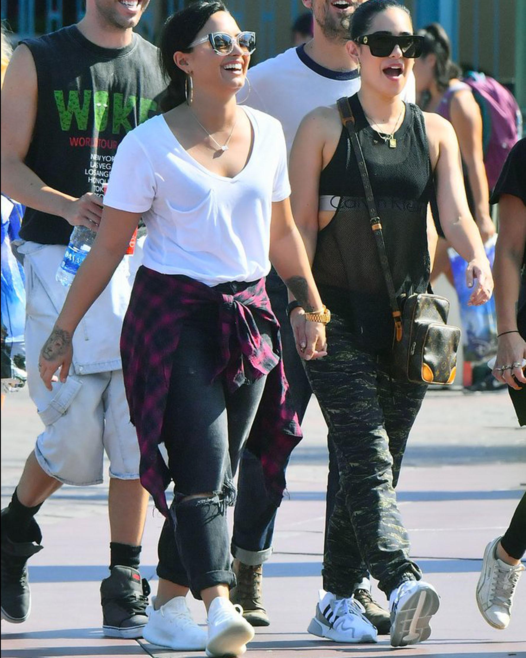 Demi Lovato and Lauren Abedini