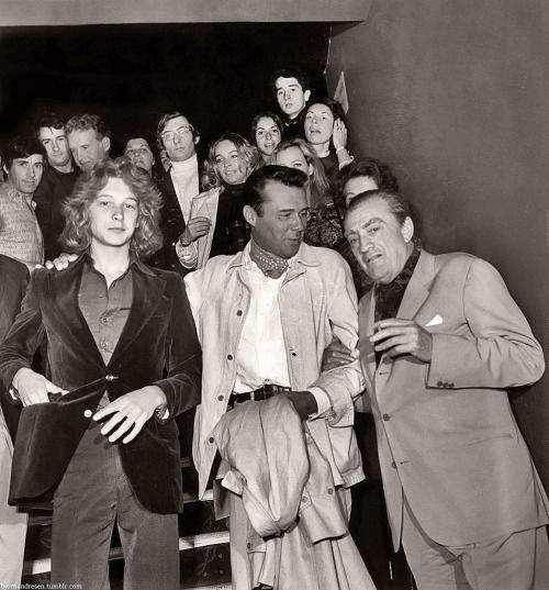 Bjorn Andresen, Dirk Bogarde, and Luchino Visconti appeared with the other cast of'Death in Venice'