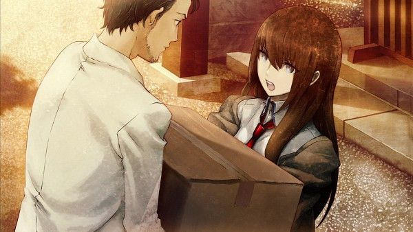 Kurisu and Okabe (Steins;Gate)