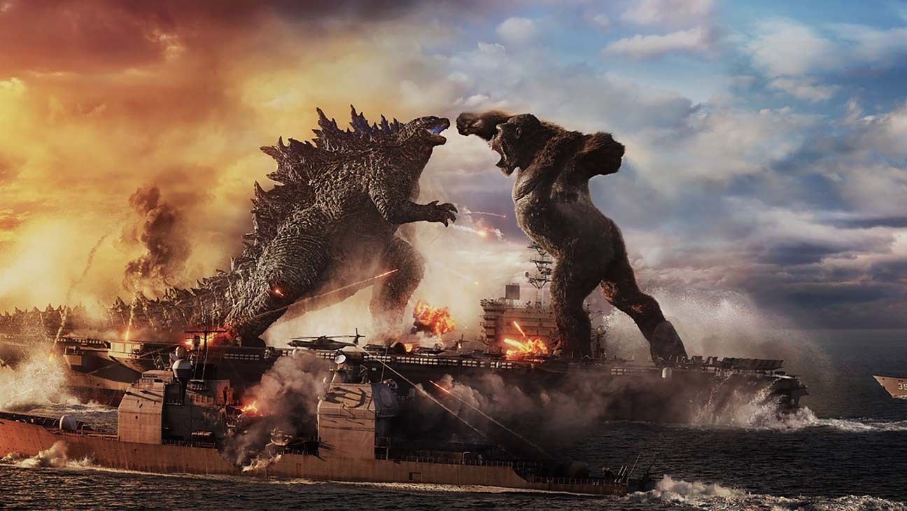Kong and Godzilla fighting