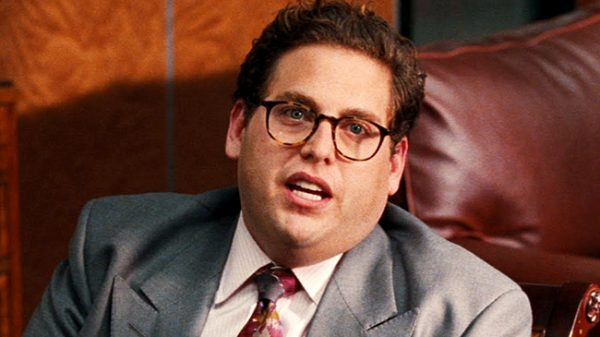 Jonah Hill getting into his character in the 2013 movie The Wolf of Wall Street