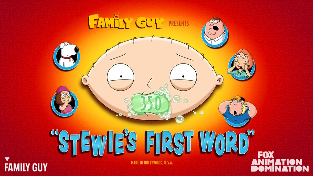 Stewie's First Word Family Guy Episode 1 Season 19 Summary