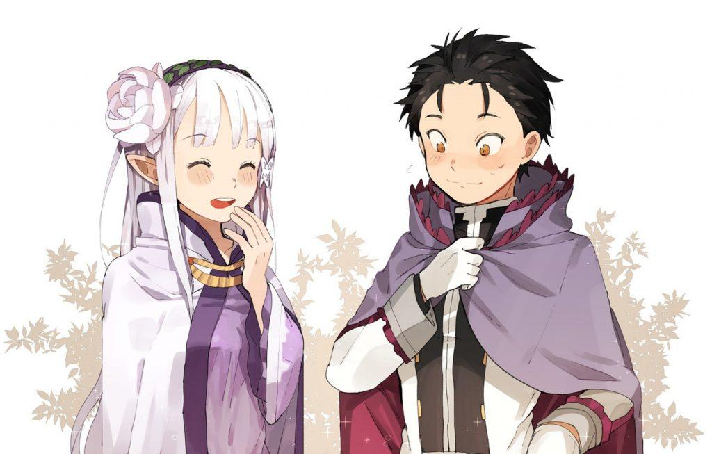 Natsuki Subaru and Emilia (Re:Zero)
