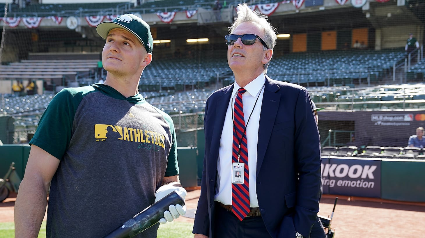 Who is the vice president of the Oakland baseball team?