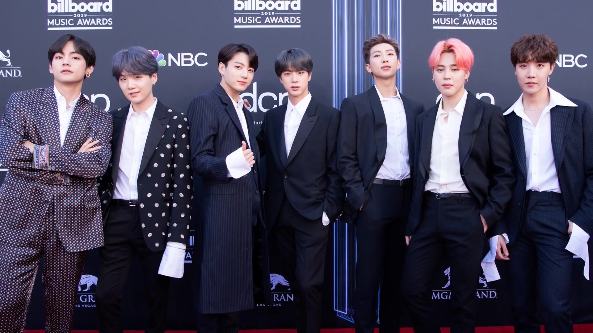 BTS at Billboard Awards Red Carpet in 2019