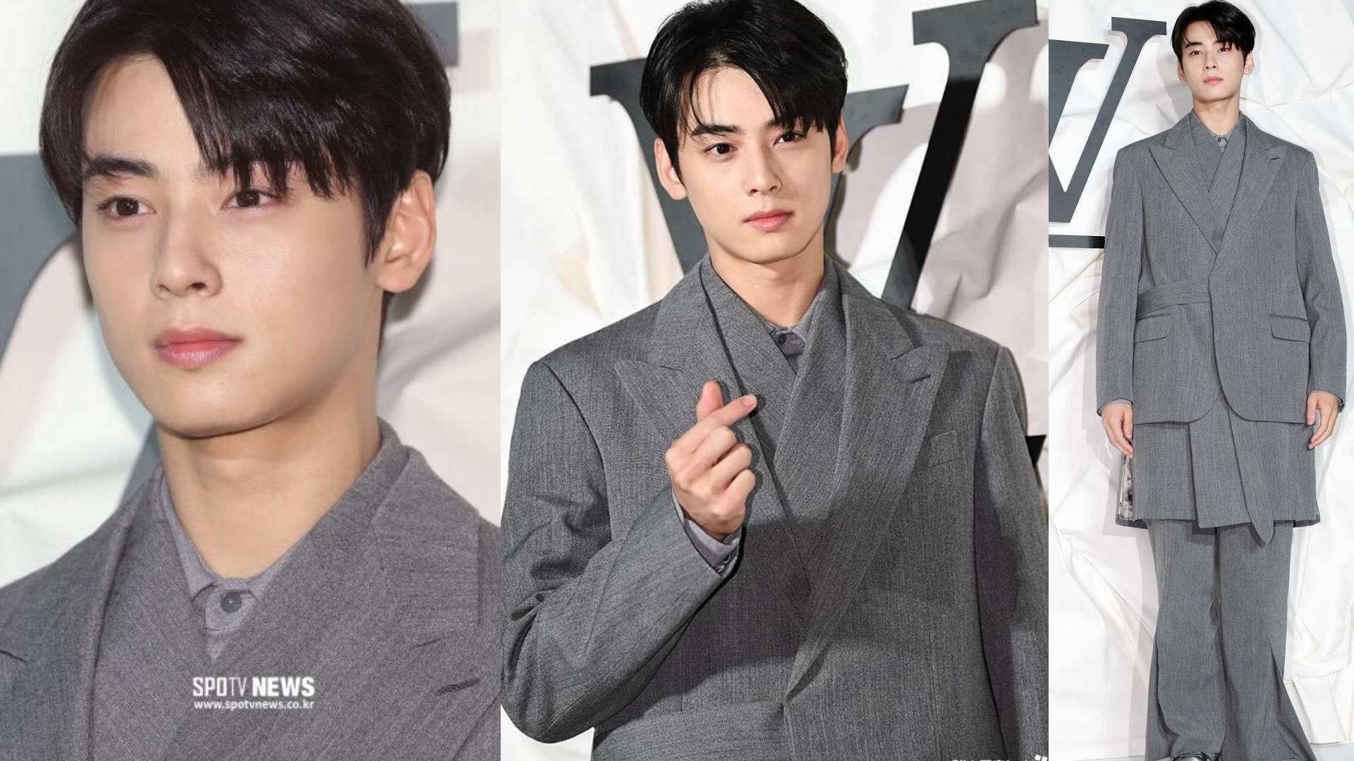 Cha Eun Woo at Louis Vuitton Event (credits: SPOTV News)