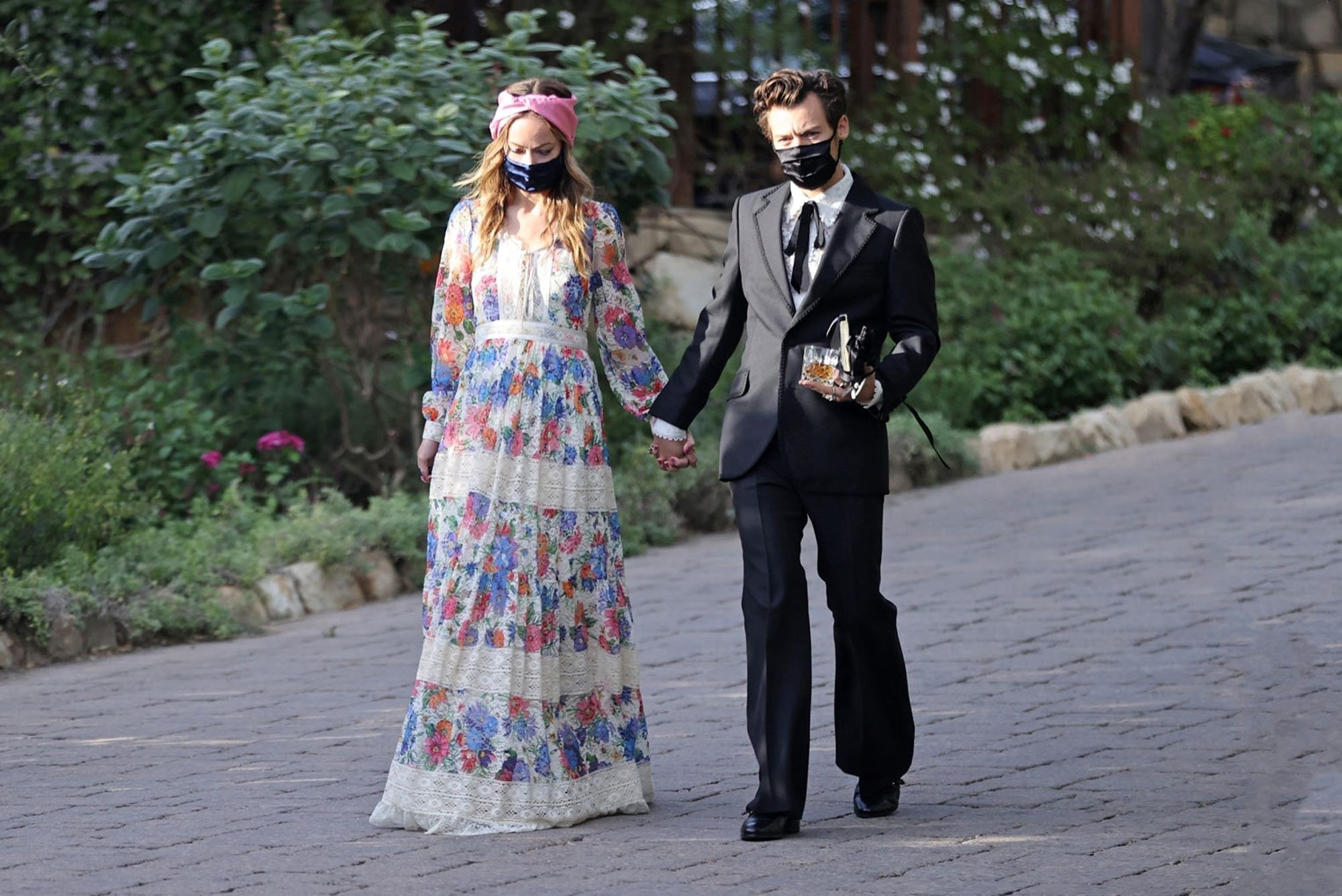 Harry Styles and Olivia Wilde at a Wedding