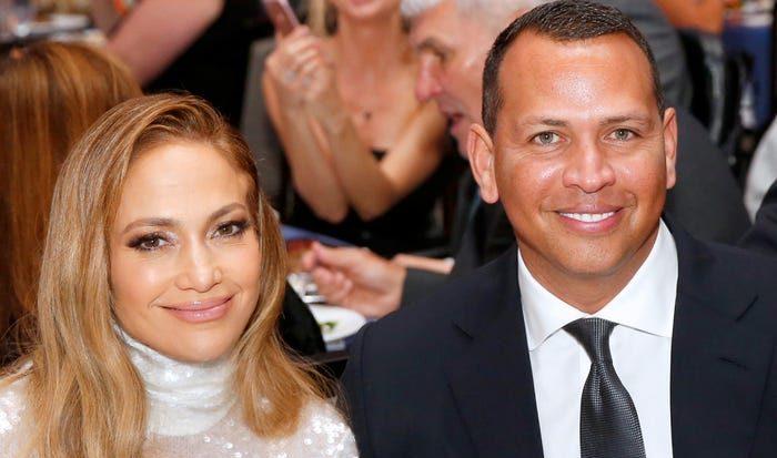 Jennifer Lopez with former beau Alex Rodriguez