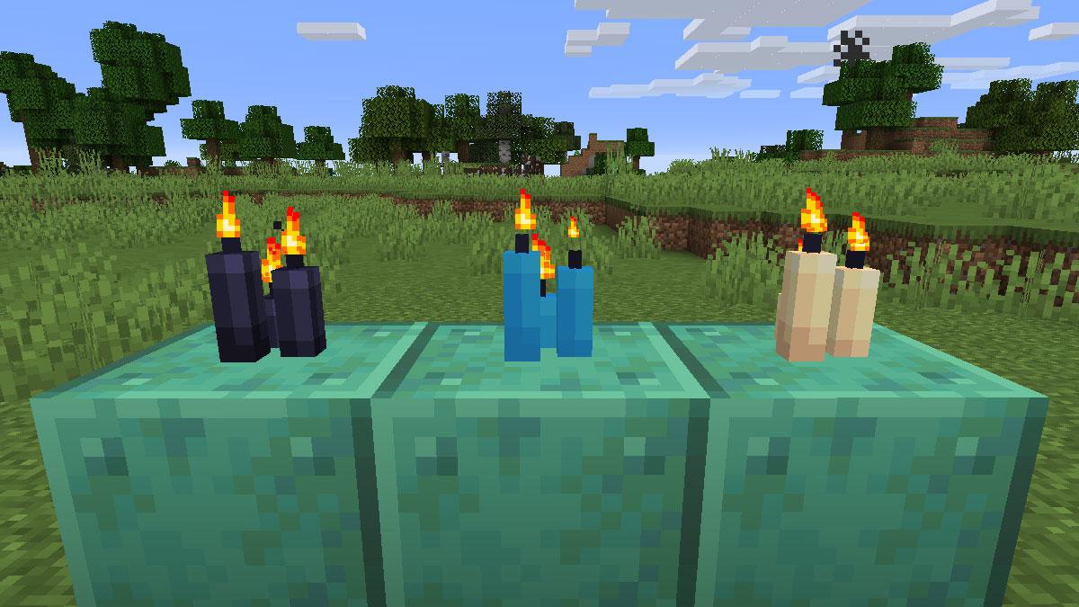 Minecraft candles
