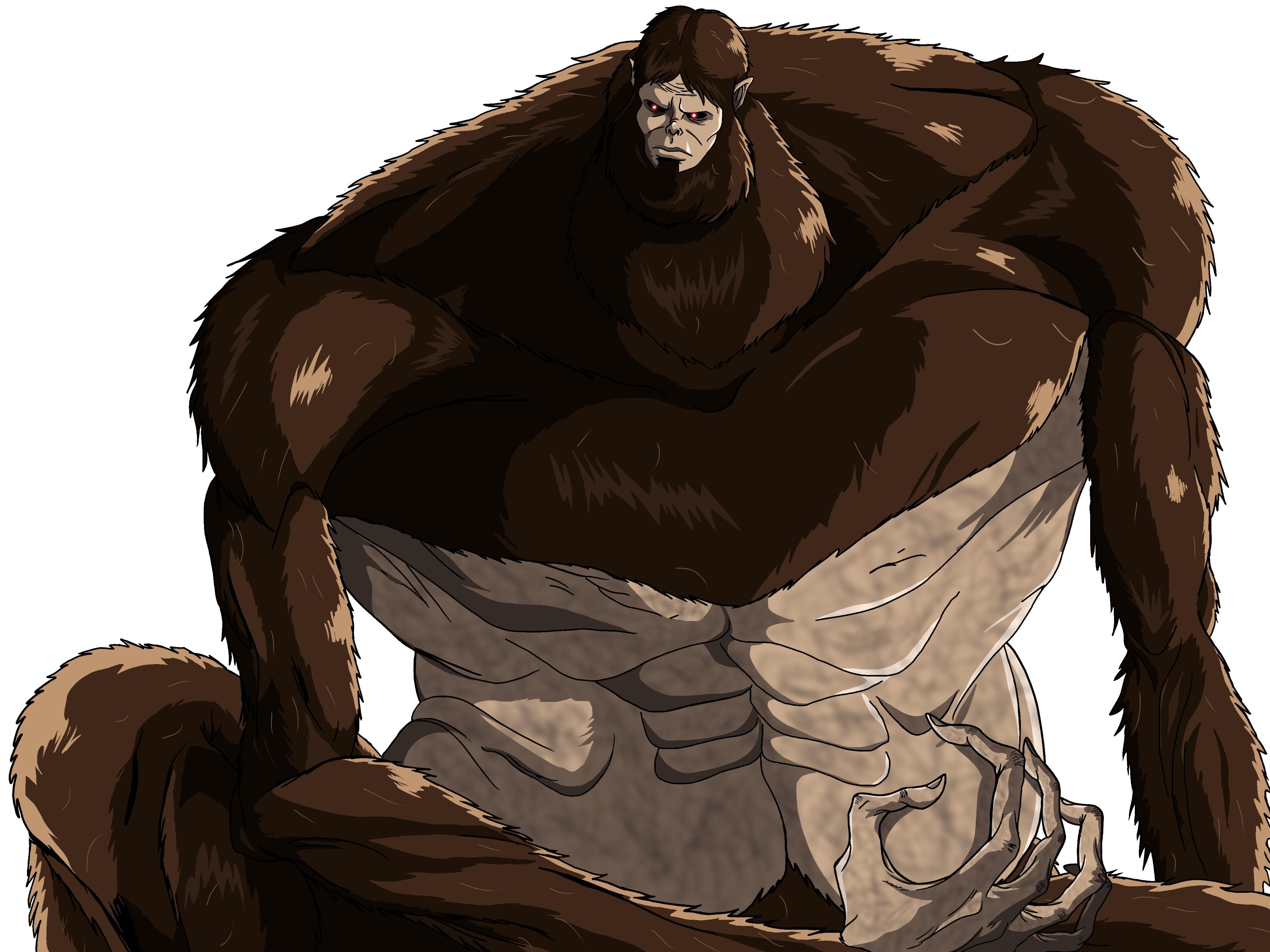 "Here's my 2nd attempt at drawing the ""Beast Titan"" : ShingekiNoKyojin"