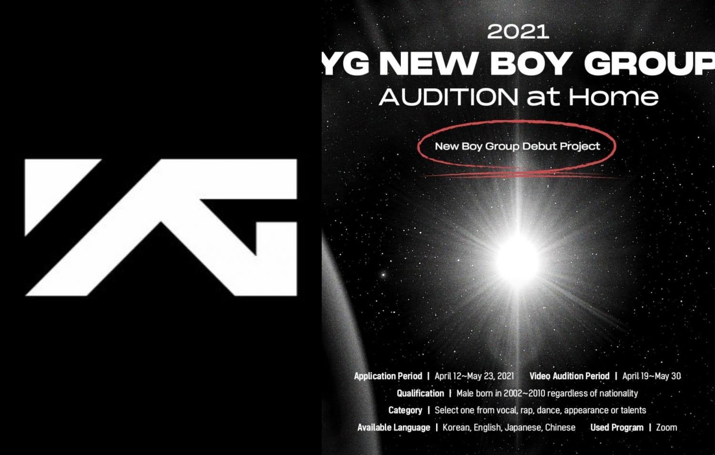 YG Entertainment Boy Idol Group 2021 Audition