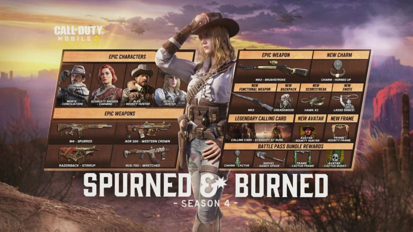 Call of Duty Mobile Season 4: Spurned & Burned - New Skins, Events, and More