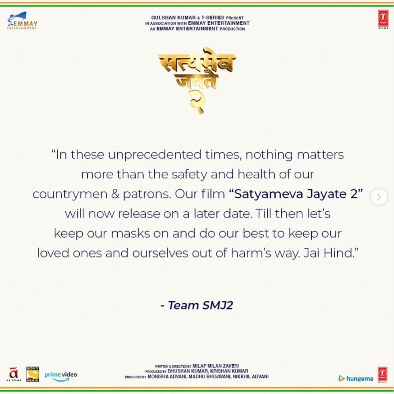 Satyameva Jayate 2: new release date and where to watch it