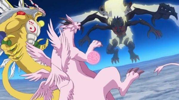 Anime debut of Goddramon and Holydramon