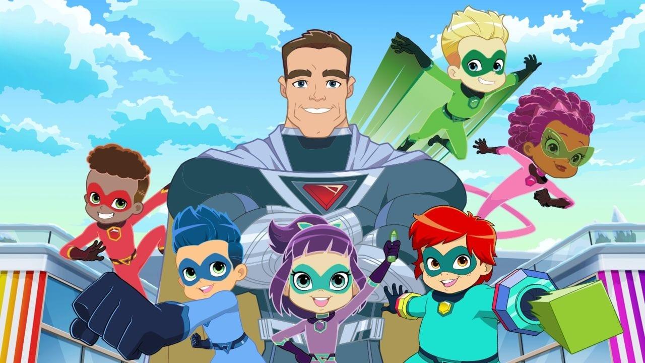 Who is in the cast of Superhero Kindergarten?