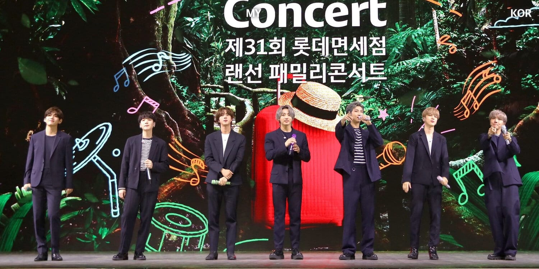 BTS Lotte Duty Free Family concert 2021