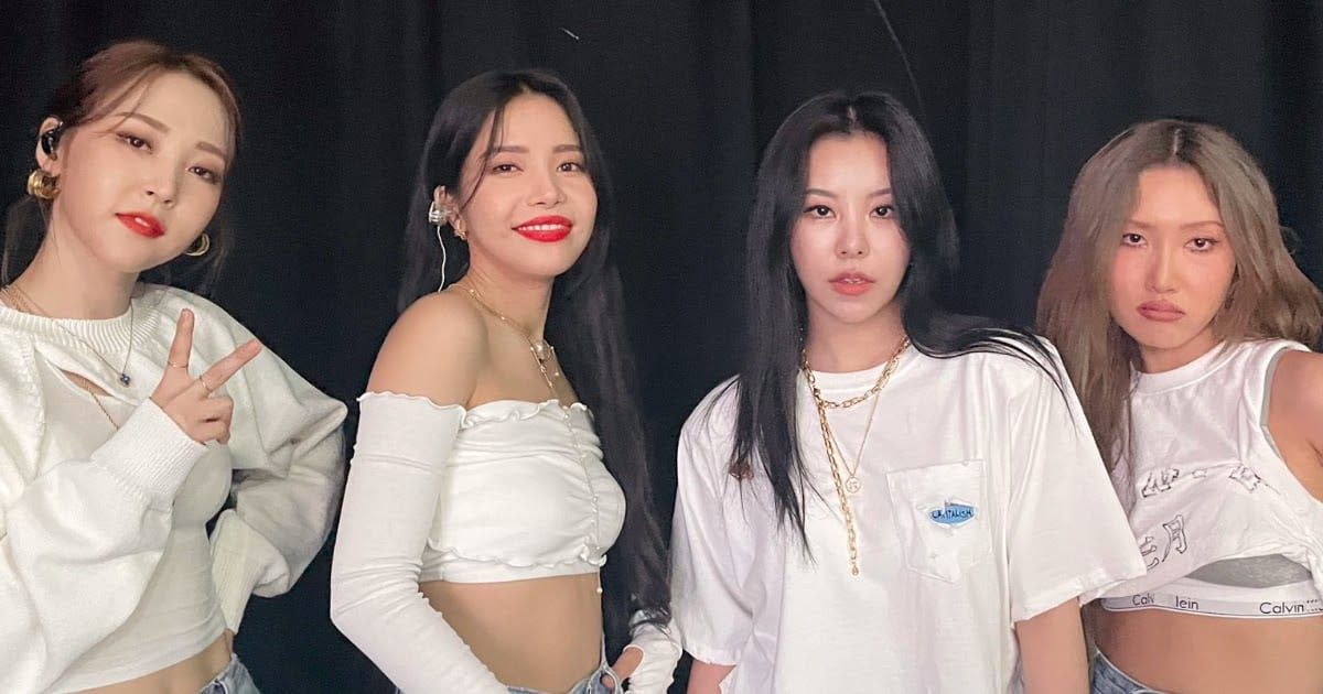 The k-pop gril group Mamamoo makes their comebcak