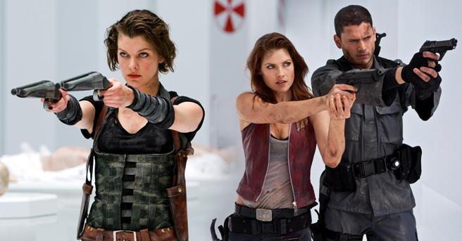 Resident Evil Afterlife Fight scene