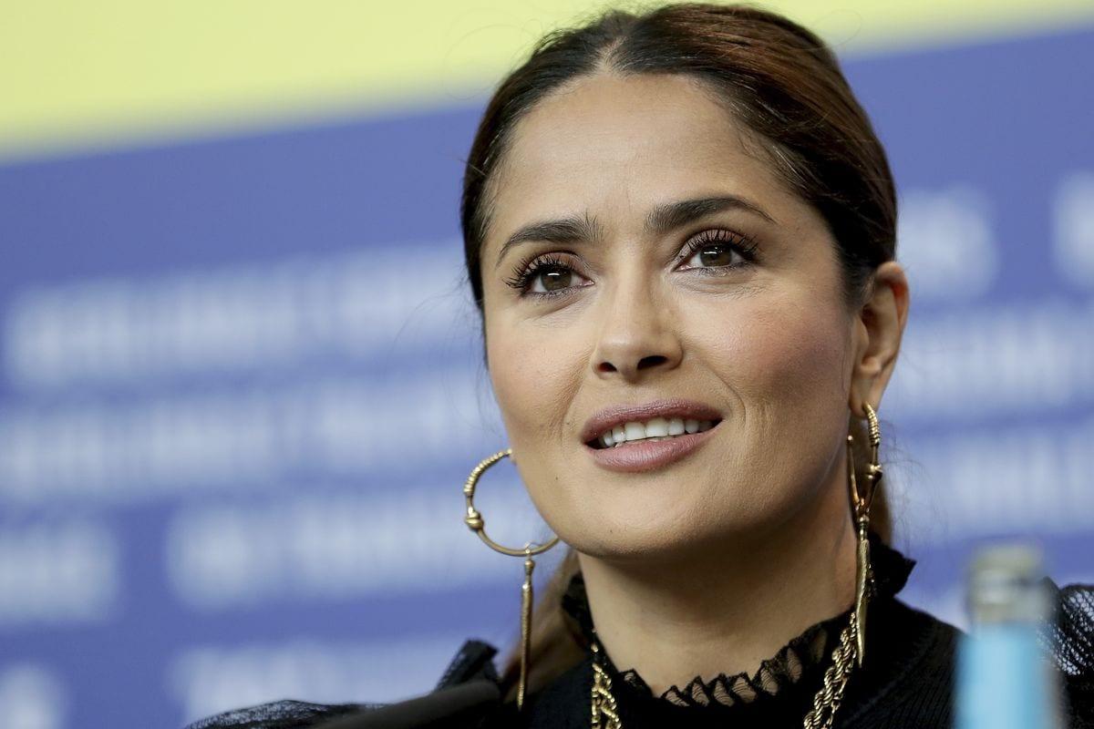 Salma Hayek Fake Breasts Rumours