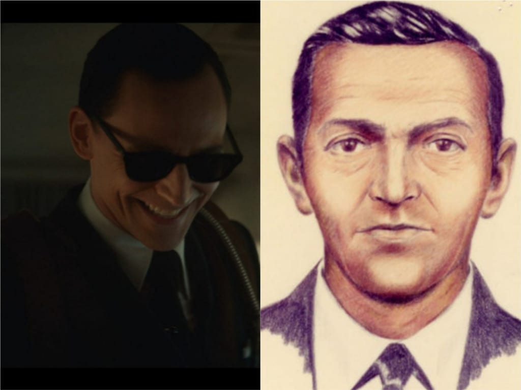 Loki As D.B. Cooper and the Sketch of Cooper's Real Life Version