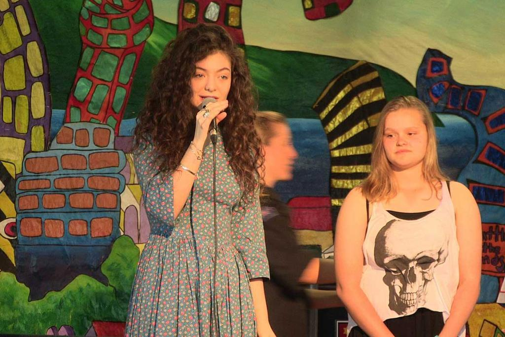 Famous talent judge Lorde on stage when she helped judging a talent contest last year.