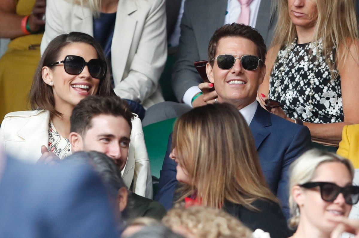 Who Is Tom Cruise With At Wimbledon