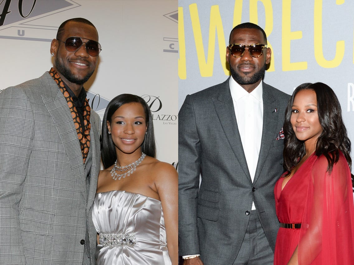 Lebron James with his wife