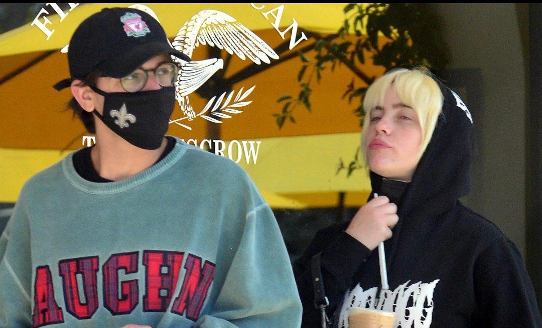 Billie with her boyfriend