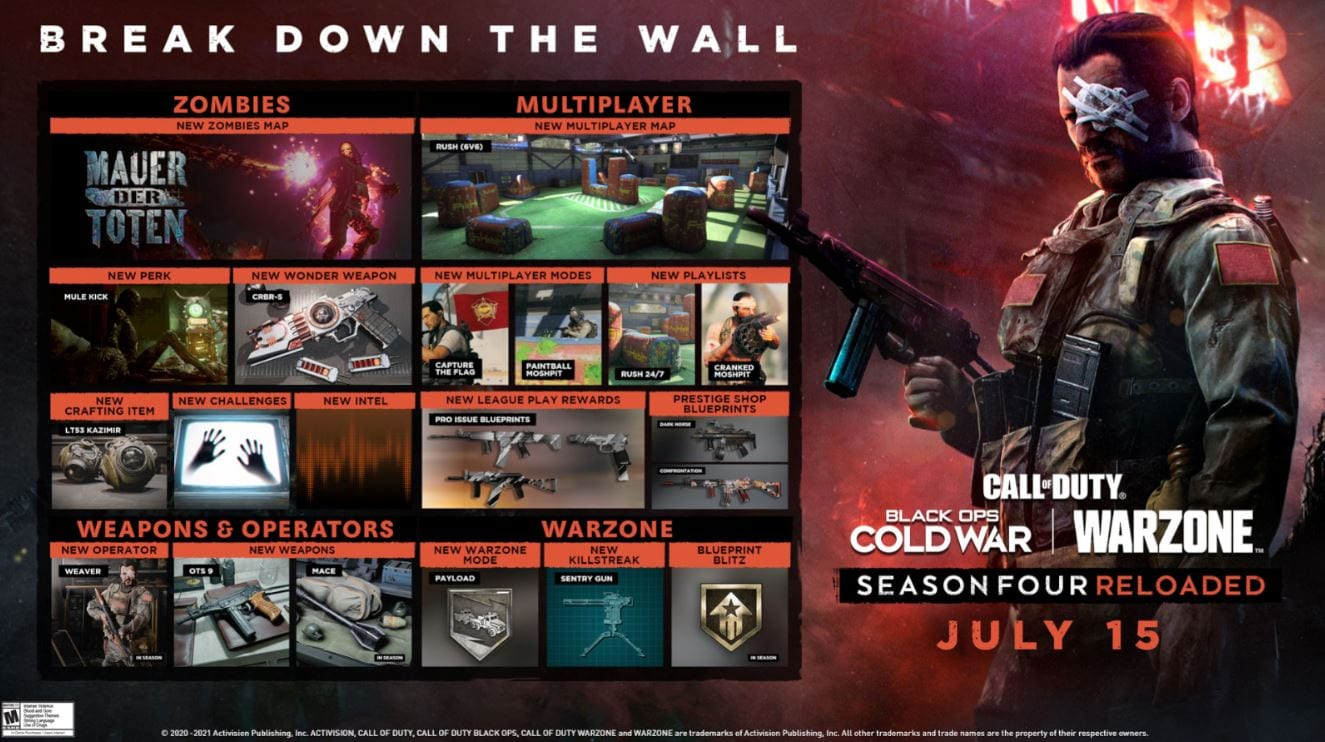Call of Duty Season 4 Reloaded Out To Play: Everything About It