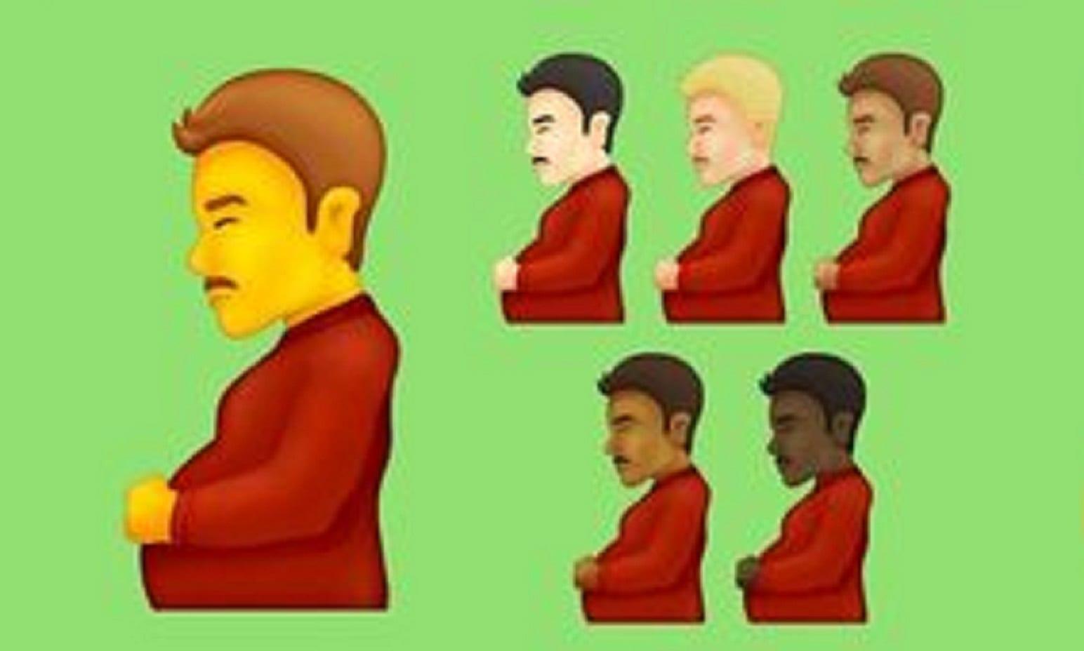 Apple Pregnant Man Emoji