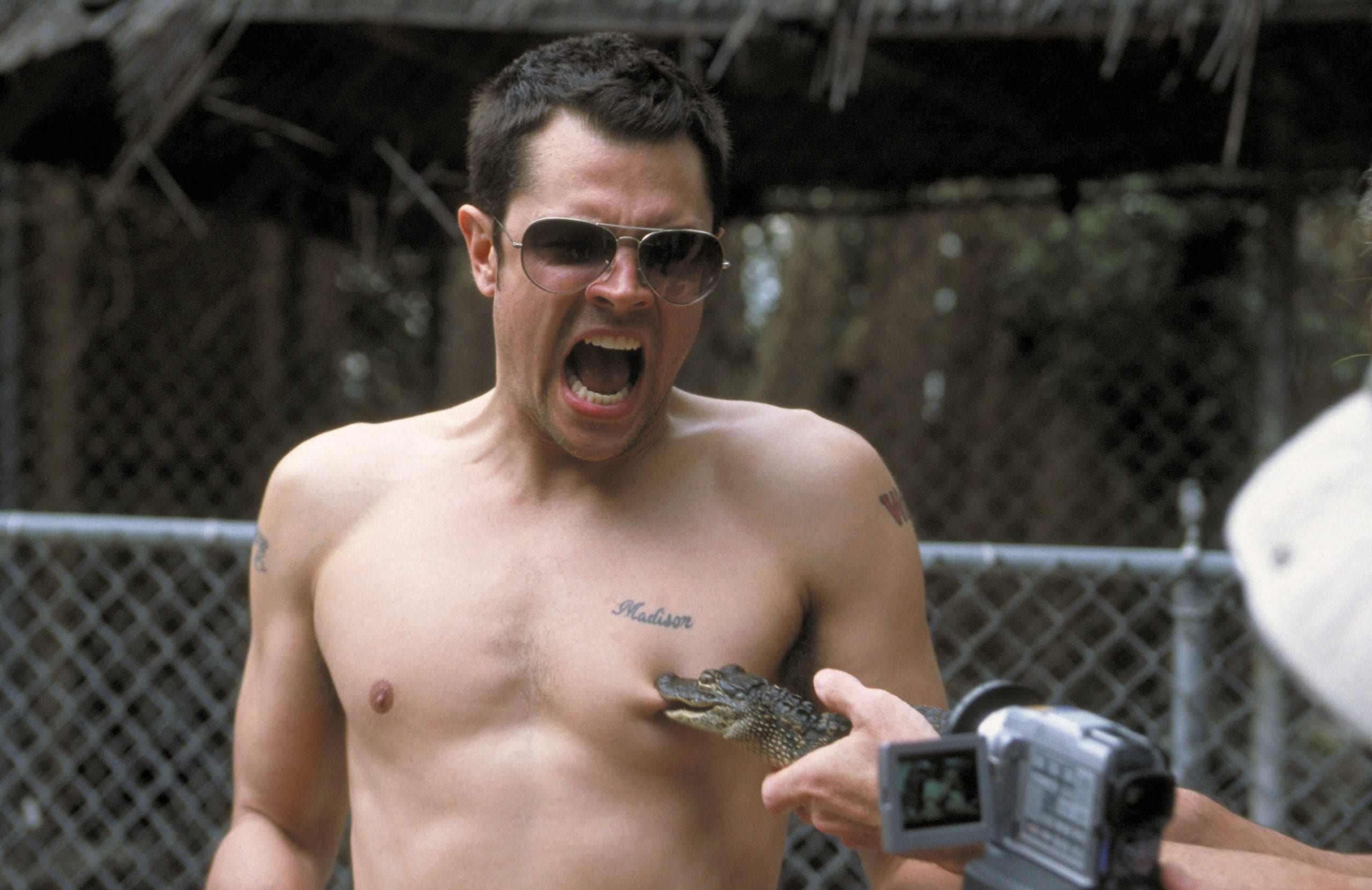Johnny in Jackass the Movie 2002