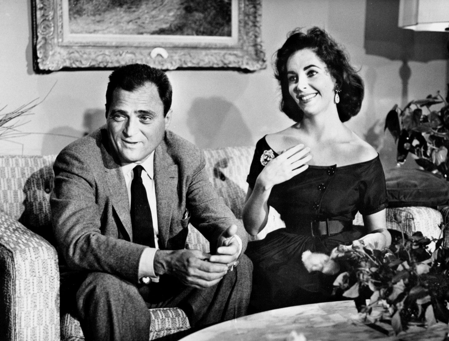 Mike Todd and Elizabeth Taylor from the anniversary party for the film Around the World in 80 Days