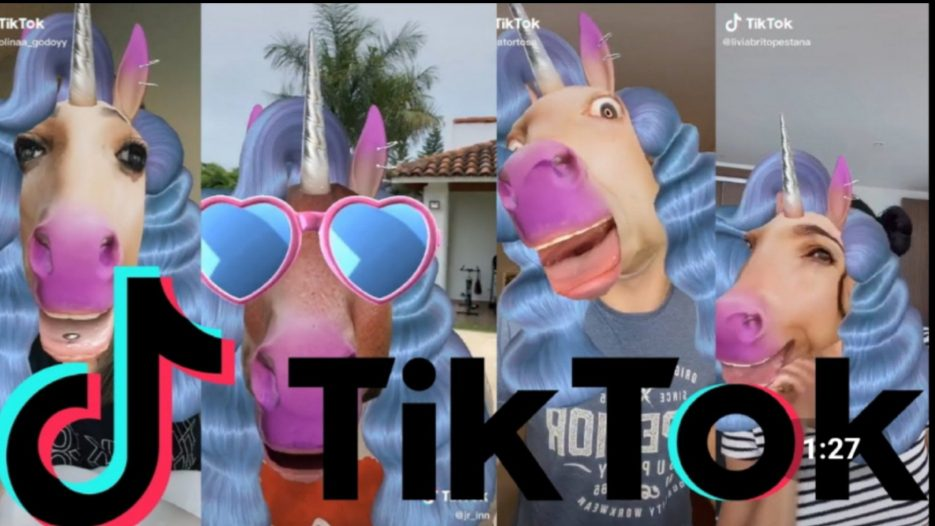 Unicorn filter on Tiktok