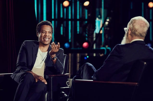 Jay Z at the interview
