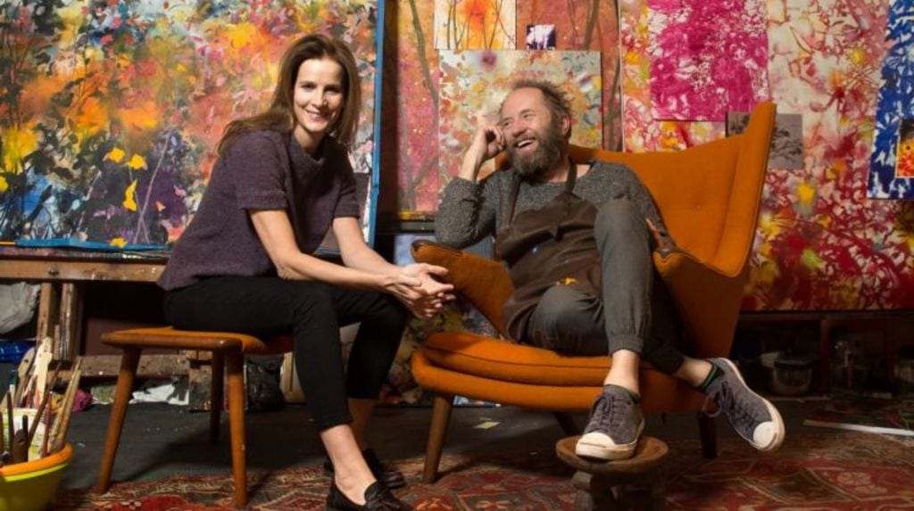 wh o is actress Rachel Griffiths dating?